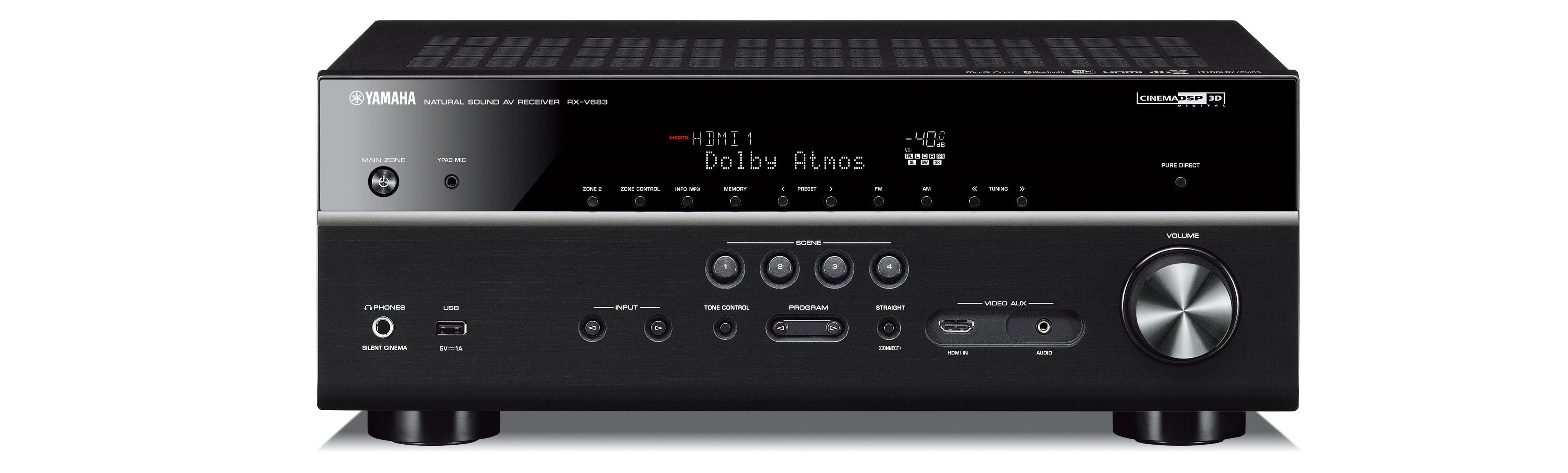 Here is a picture of the Yamaha RX-V683BL AV Receiver